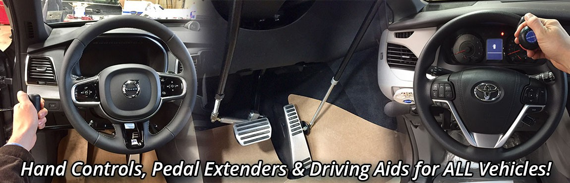 Hand Controls, Pedal Extenders and Driving Aids
