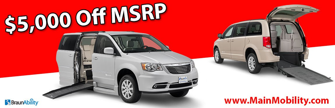 $5,000 off MSRP Wheelchair Vans For Sale New York