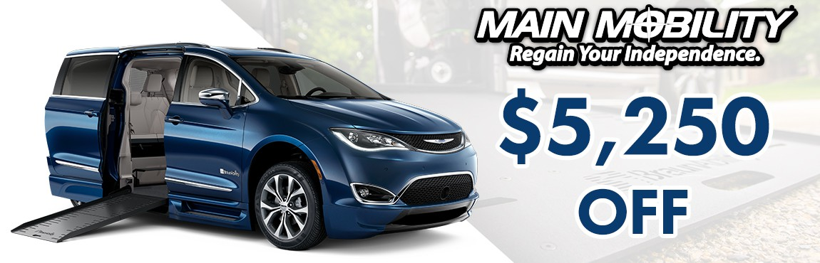 $5,250 Off Dodge Side and Rear Entrys and the All New Chrysler Pacifica!