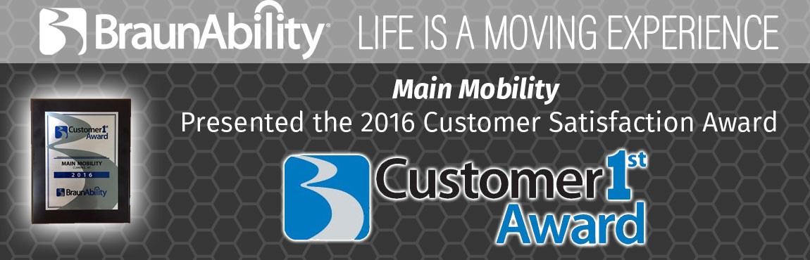 2016 BraunAbility Customer Satisfaction Award
